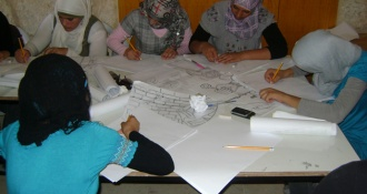 Pictures of the initiative Nuhaseyat to promote civil peace and dialogue within the project with an open mind